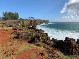 Mahaulepu Hike cliffs