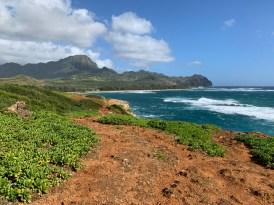 Mahaulepu Hike over rough terrain
