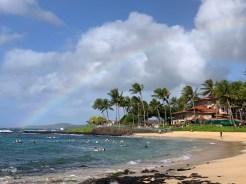 A rainbow over Poipu