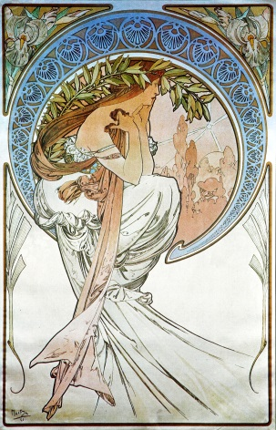 Art Deco Woman With Leaves In Her Hair