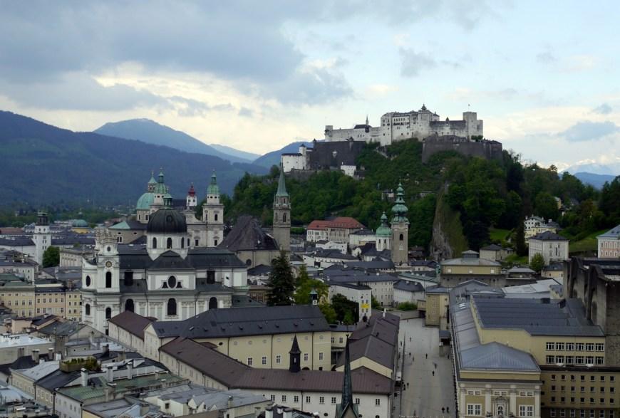 Perfektný pohľad na Salzburg