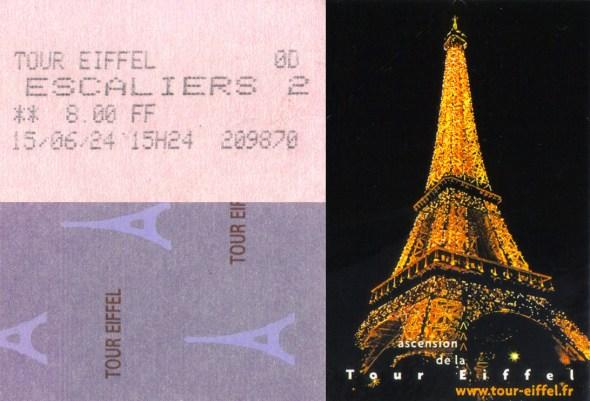 Lístky na Eiffelovku