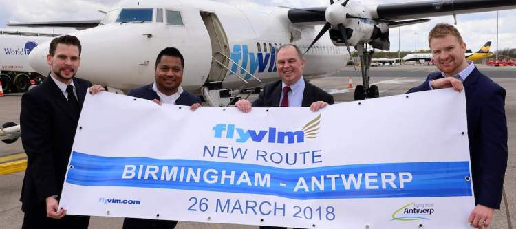 VLM Airlines heropent route Antwerpen-Birmingham