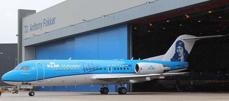 Fokker 70 (PH-KZU) van KLM Cityhopper