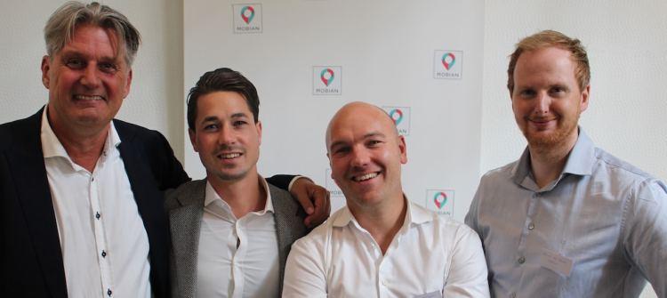 Ron Hemelrijk (Sales Director), Sven Snel (Founder/CEO), Breght Boschker (CTO) en David van Santen (Controller)
