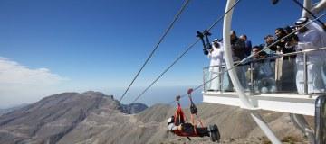 Video - Langste zipline: met 150 kilometer per uur over Ras Al Khaimah