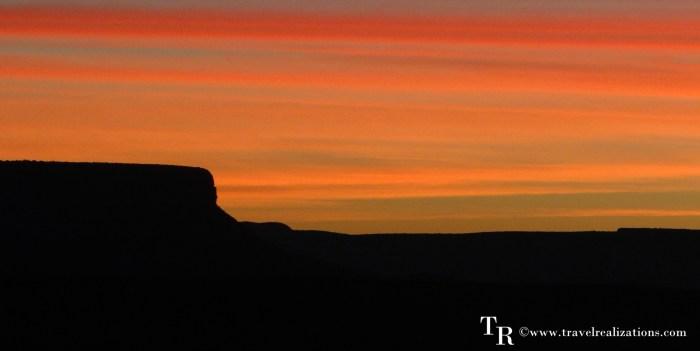 A new dawn in Hualapai Ranch in Grand Canyon, Arizona USA