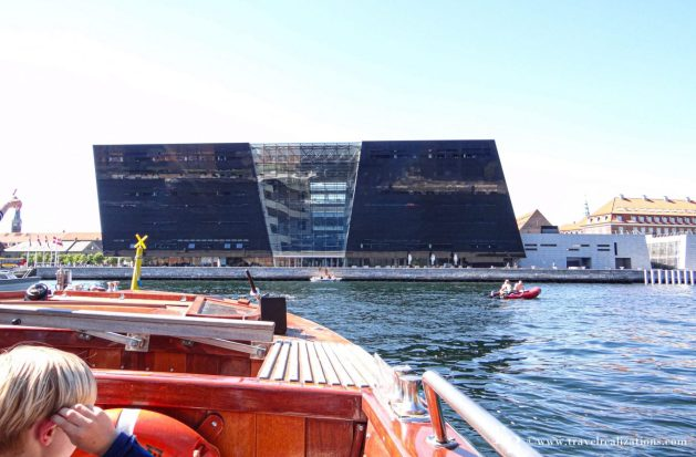 Black Diamond - A library with a waterfront, Black Diamond in Copenhagen, Denmark, the national library of Denmark and Copenhagen university, Travel Realizations