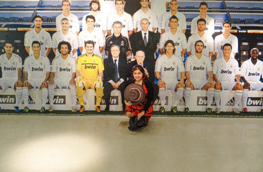 The Real Madrid Club in Madrid, Spain!