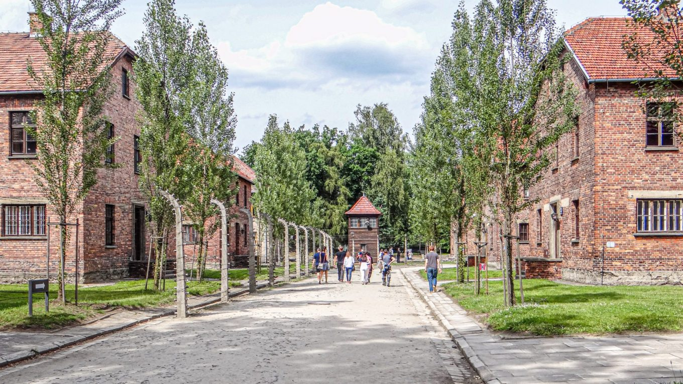The concentration camp in Auschwitz, Poland - A vast factory of murder!