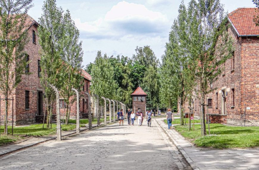 The concentration camp in Auschwitz, Poland – A vast factory of murder!