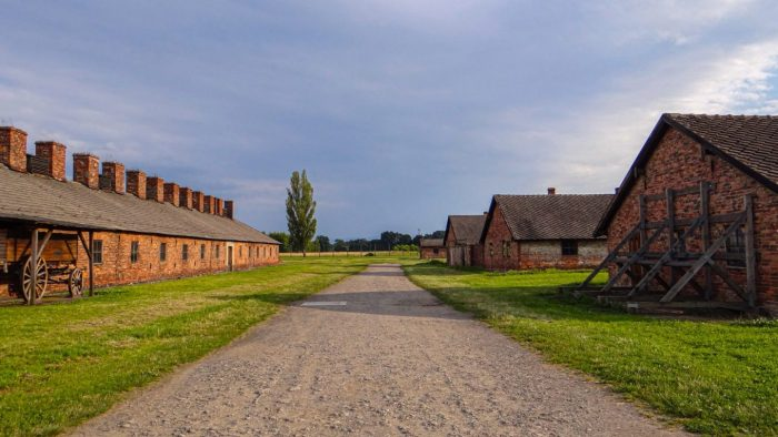 The tragic road of death in Auschwitz, Poland !