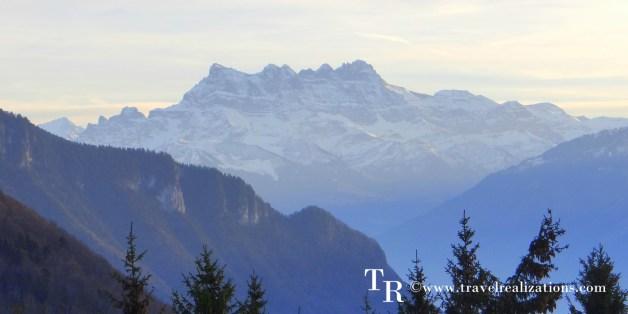 A mountain Christmas Village in Caux, Switzerland!
