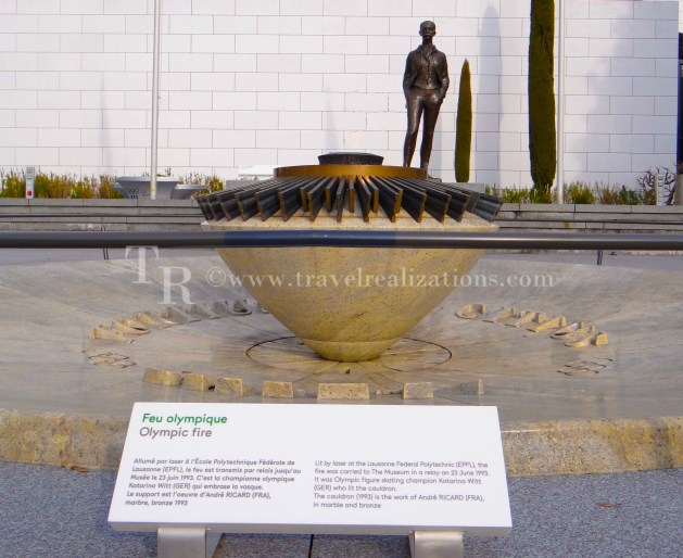 Olympic Fire in the Olympic Museum, The Olympic flame in the Olympic Museum in Lausanne, Switzerland, Travel Realizations