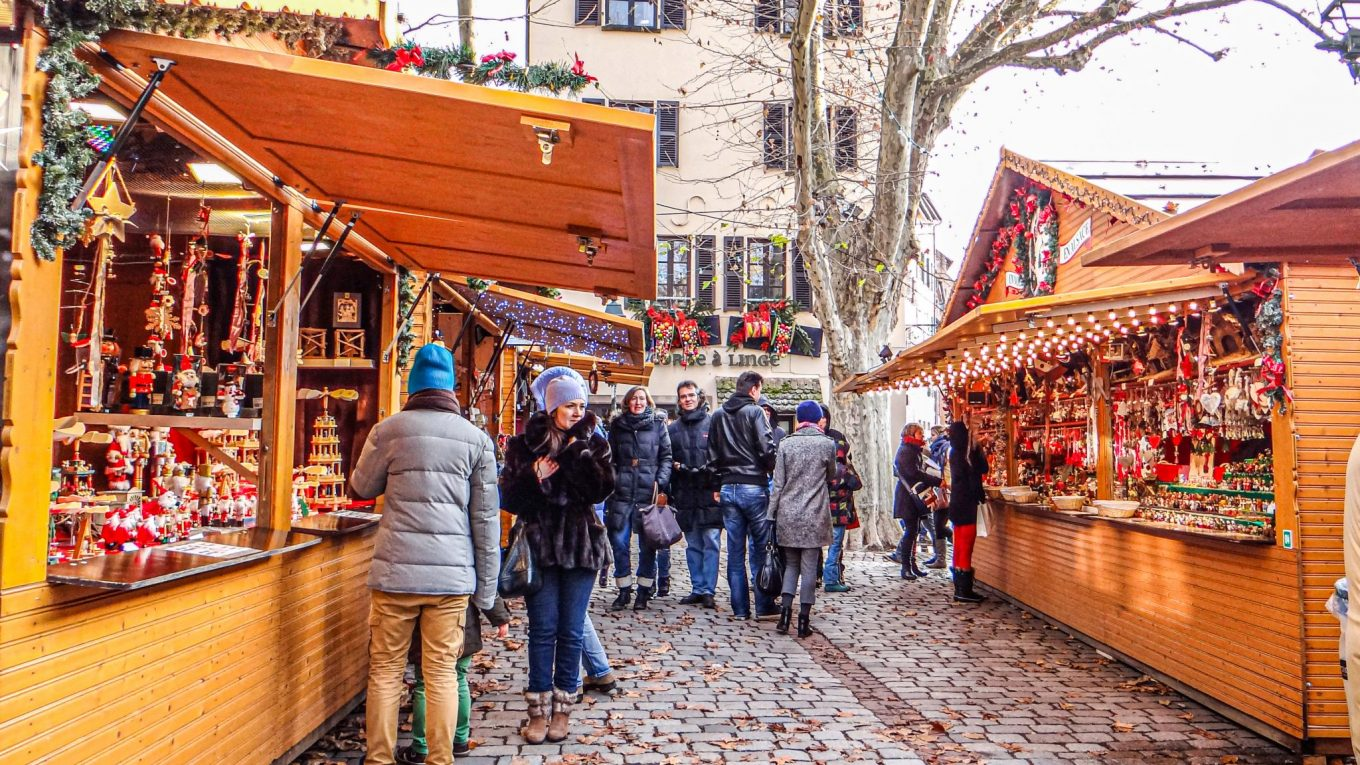 Christmas market in Strasbourg, France - the oldest and biggest in Europe!