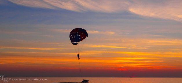 Travel Realizations, sunsets, phuket, thailand, parachute