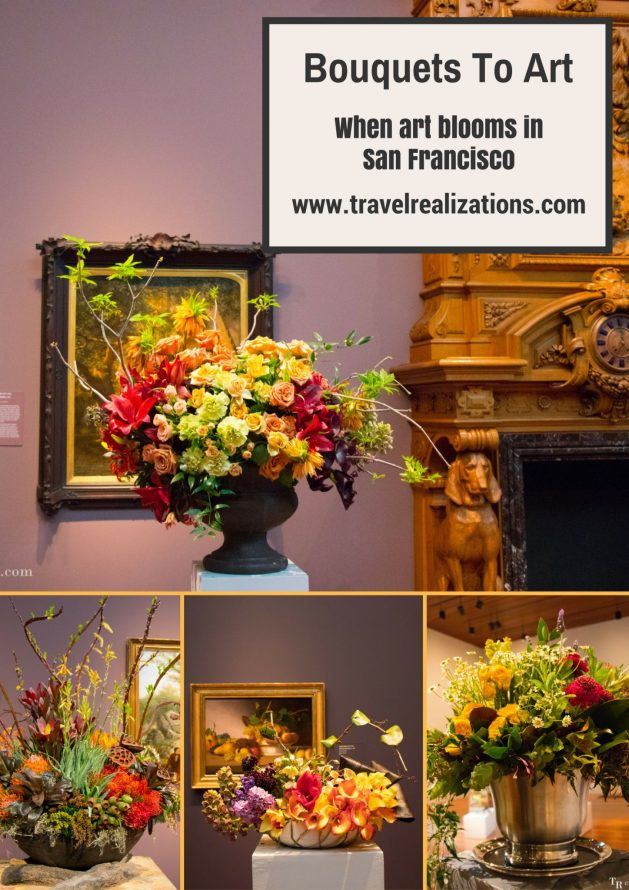 In the exhibition Bouquets To Art in the de Young Museum, San Francisco, vibrant and radiant flower bouquets breathed new life into the paintings. #SanFrancisco #California #art #exhibition #travel #travelblog