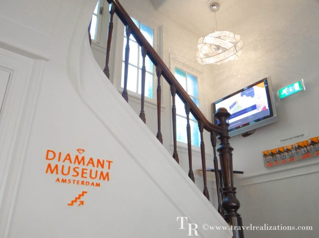 The story of Diamond in Amsterdam Diamond Museum, Travel Realizations, entrance