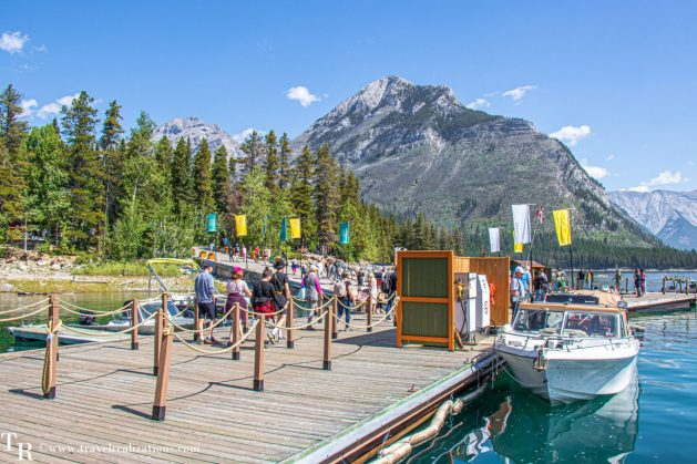 A cruise on Lake Minnewanka in Banff, Canada, Travel Realizations, pursuitbanffjasper