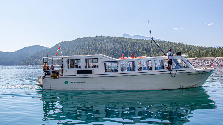 A cruise on Lake Minnewanka in Banff, Canada!
