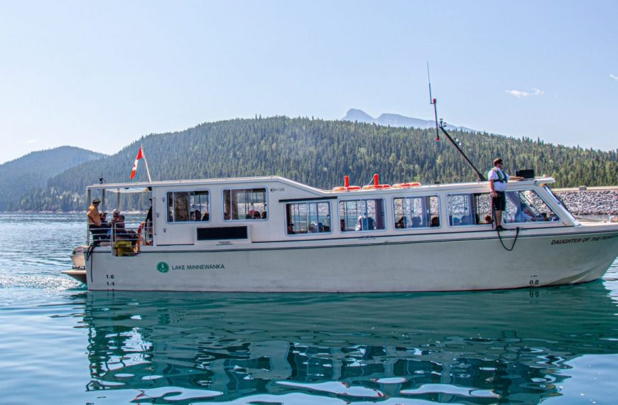 A cruise on Lake Minnewanka in Banff, Canada!
