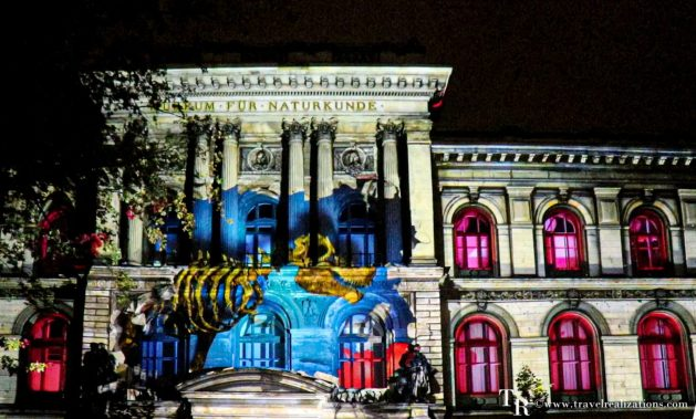 The Festival of Lights in Berlin, Germany, Travel Realizations, The Naturkunde Museum