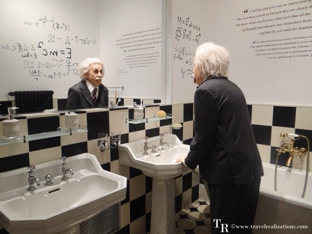 Einstein wax sculpture, Chaplin's world, Travel Realizations