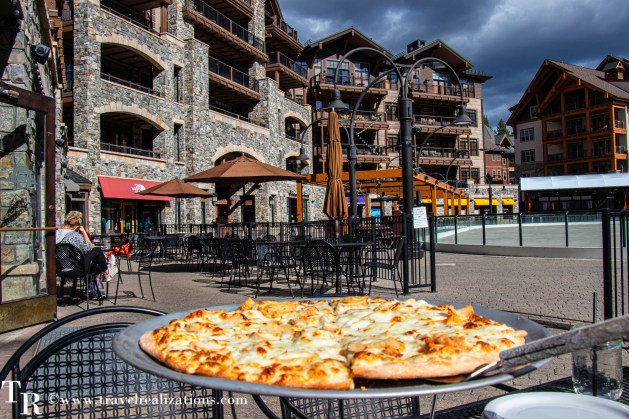 Lake Tahoe in Summer, Travel Realizations, The Village at Northstar, Rubicon Pizza