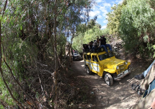 paseo en Willys en Real de Catorce