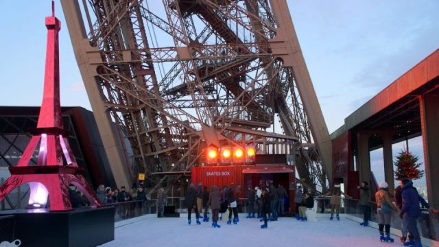 Eiffel Tower ice skating