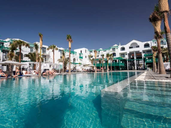The swimming pool at the Barcelo in Lanzarote