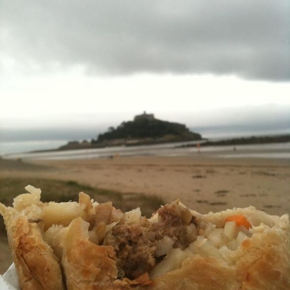 Cornish Pasty at St Michael's Mount