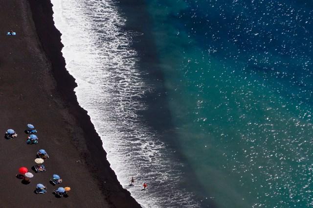 Black sand beaches consist of lava ash