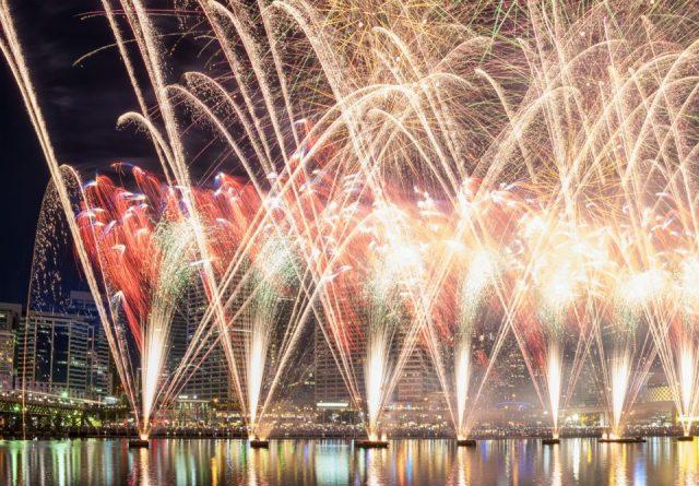 Fireworks, New Years Eve, Darling Harbor, Sydney