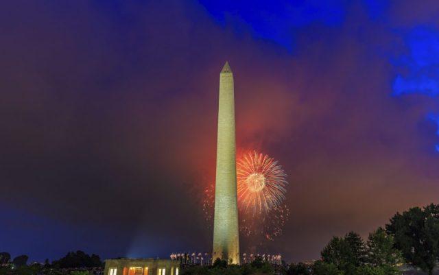 Washington Monument and Fireworks