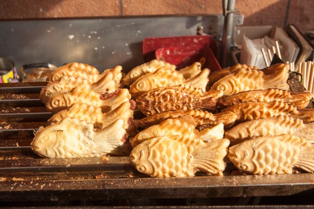 Taiyaki is a typical Asian street food.