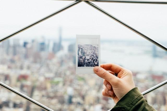 New York through polaroid postcard.