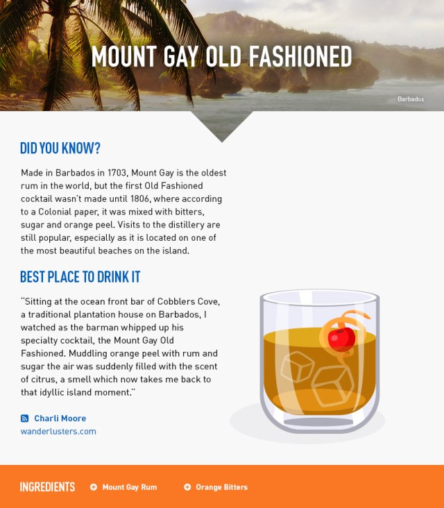 Mount Gay Old Fashioned - Barbados Beach Holiday - Caribbean
