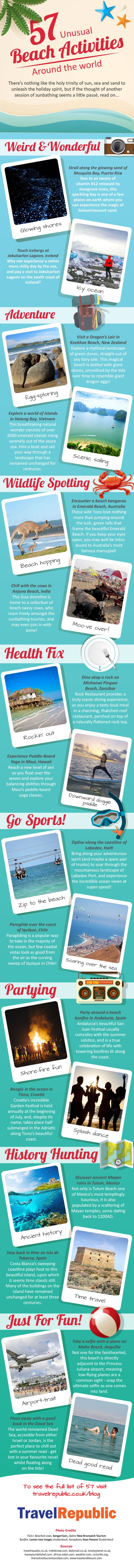 57 Unusual Beach Activities Around the World - An Infographic from The TravelRepublic Blog