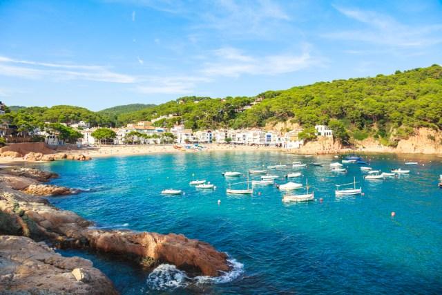 Tamariu village on the Costa Brava (Catalonia, Spain)