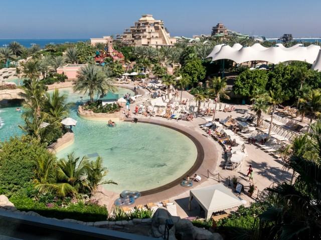 The Palm Atlantis Water Park in Dubai
