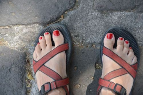 My pretty new toes