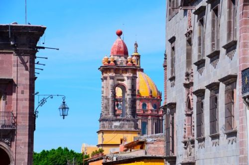 Church of the Immaculate Conception (Templo de las Monjas) - cool tower and yellow dome