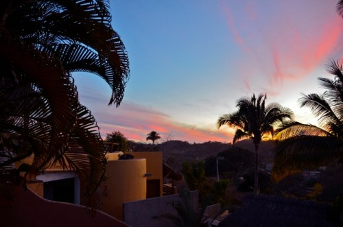 sunset view from our casa, Sayulita