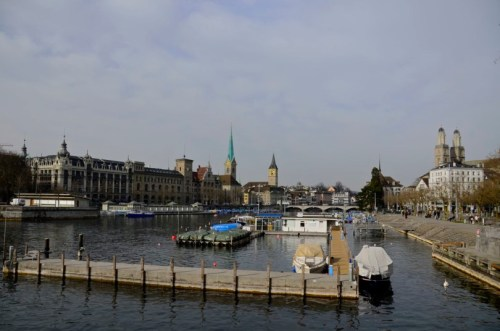 The Limmat River and the Church of Our Lady- Zurich