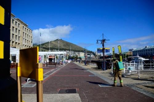 Spraying V&A Waterfront
