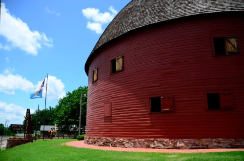 Red Round Barn in Arcadia