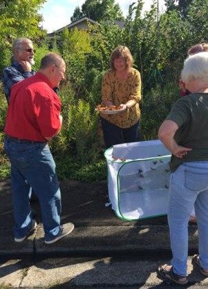 Lynn Kunstman releasing a monarch