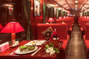 Dining cabin on Victoria Express