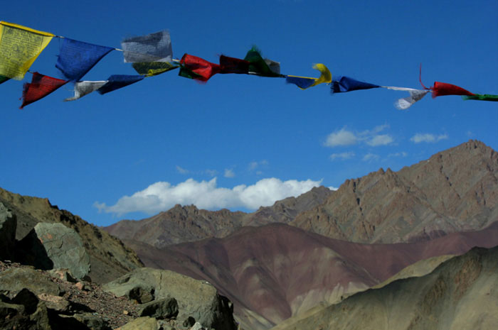markha valley trek on a budget flags india ladakh
